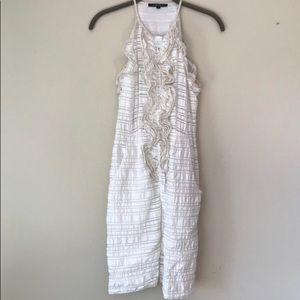Nanette Lepore white ruffled summer dress 4